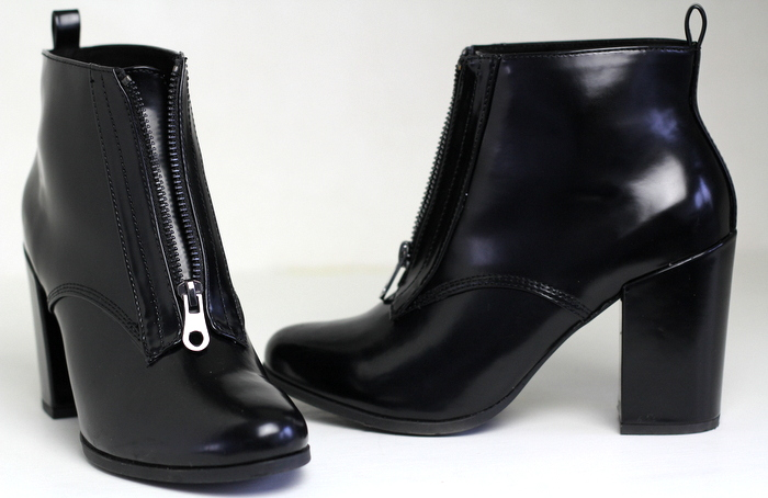 schoenen zwart laarsjes Pull and Bear
