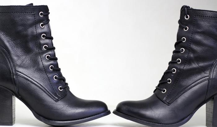 schoenen zwart laarsjes Invito
