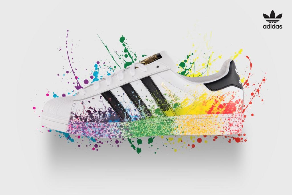 adidas schoenen regenboog