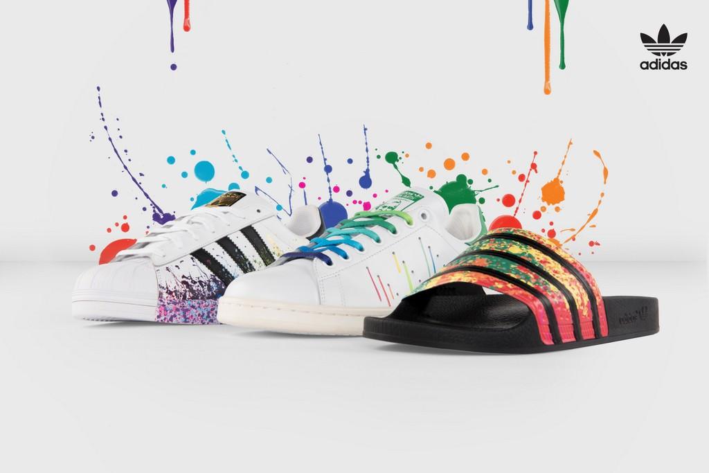 adidas schoenen verfspetters