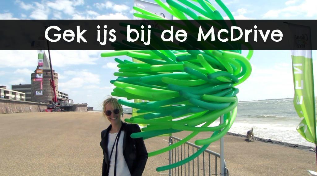 Gek ijs bij de McDrive