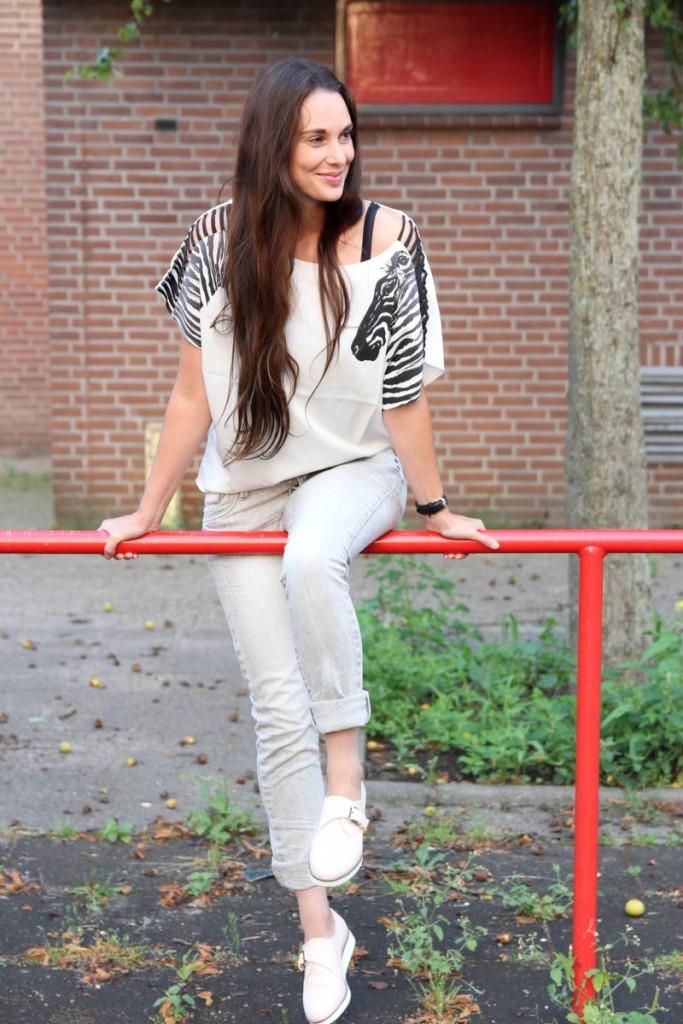 zebra potje shoppen outfit romwe