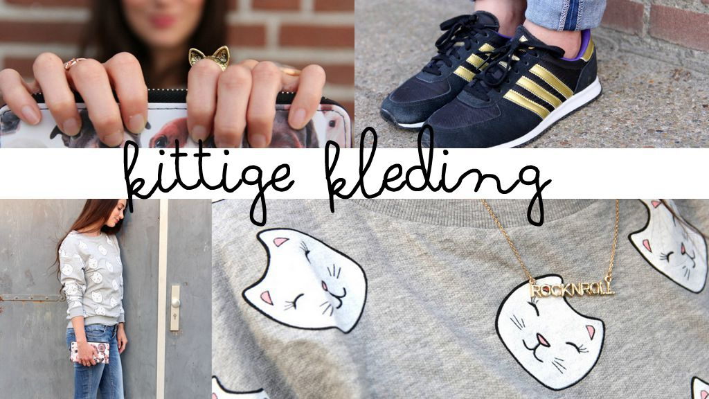 kittige kleding poezen trui H&M adidas oh so hip Joyce everink