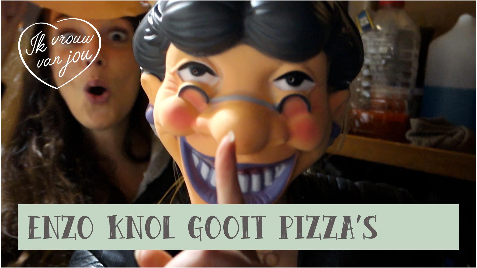 enzo knol gooit pizza's