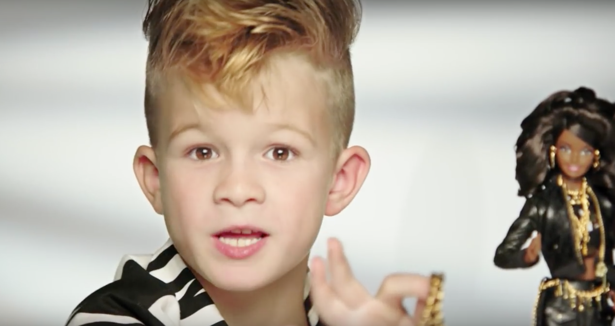 Eerste jongen in Barbie commercial
