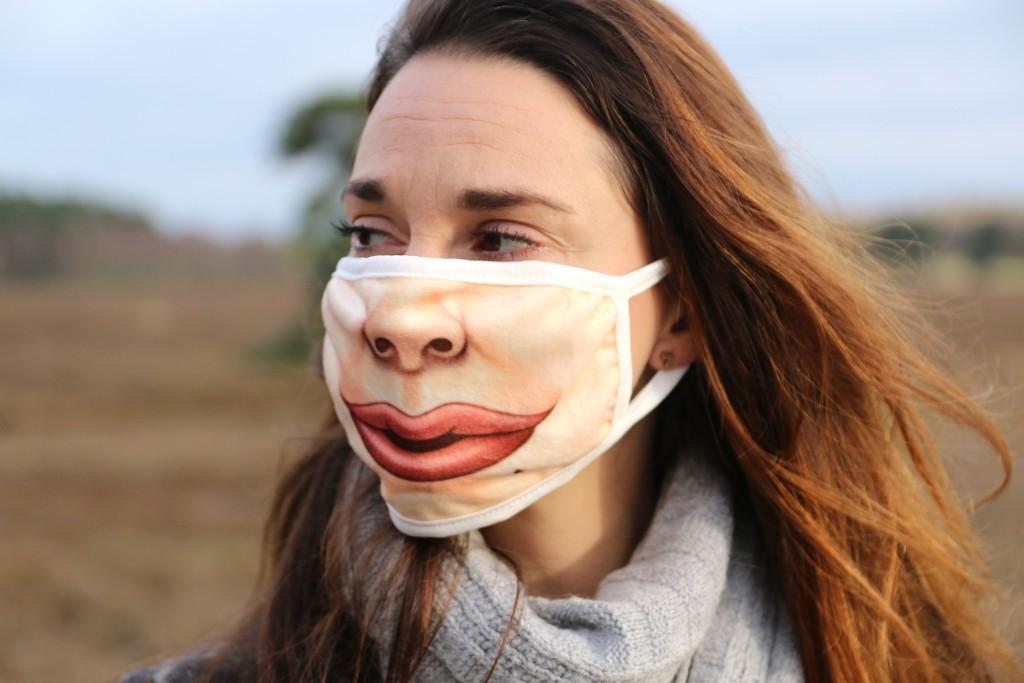 eBay aankopen mondkapje lippen grappig