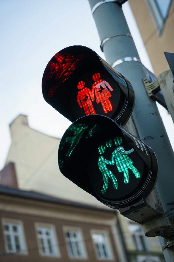 Lesbische stoplichten in Utrecht
