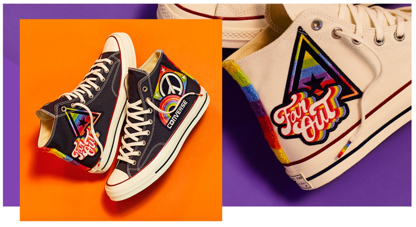 """71f6a1d4ed7 Converse x Miley Cyrus: Say Yes To All Pride collection. """""""