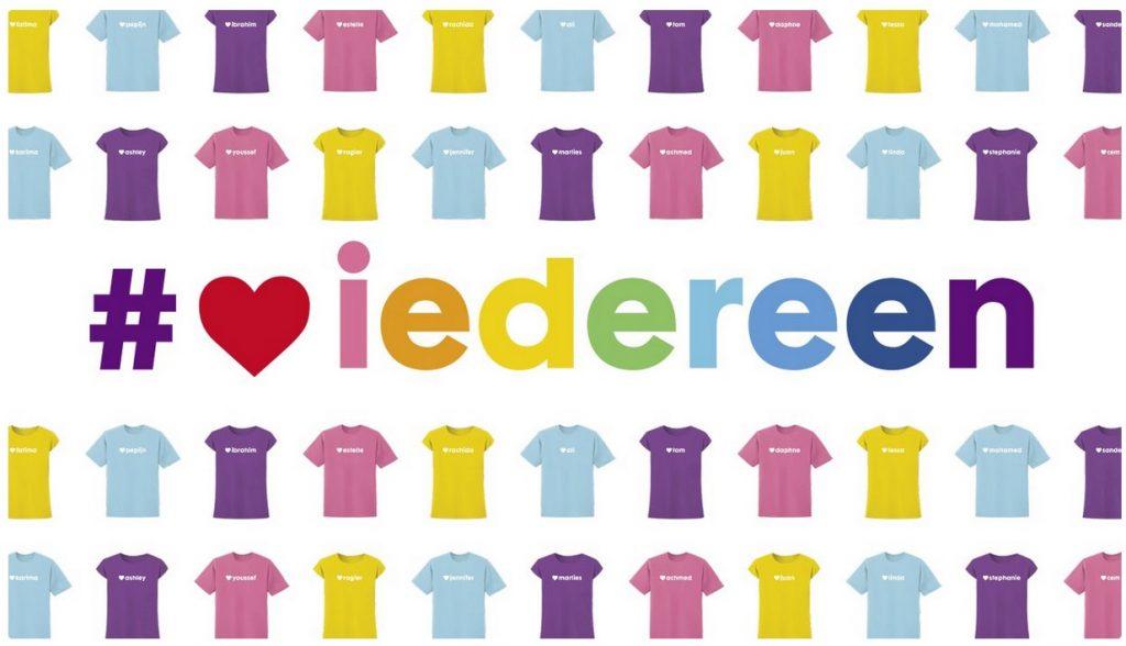 hema pride shirt 2017 liefde is voor iedereen