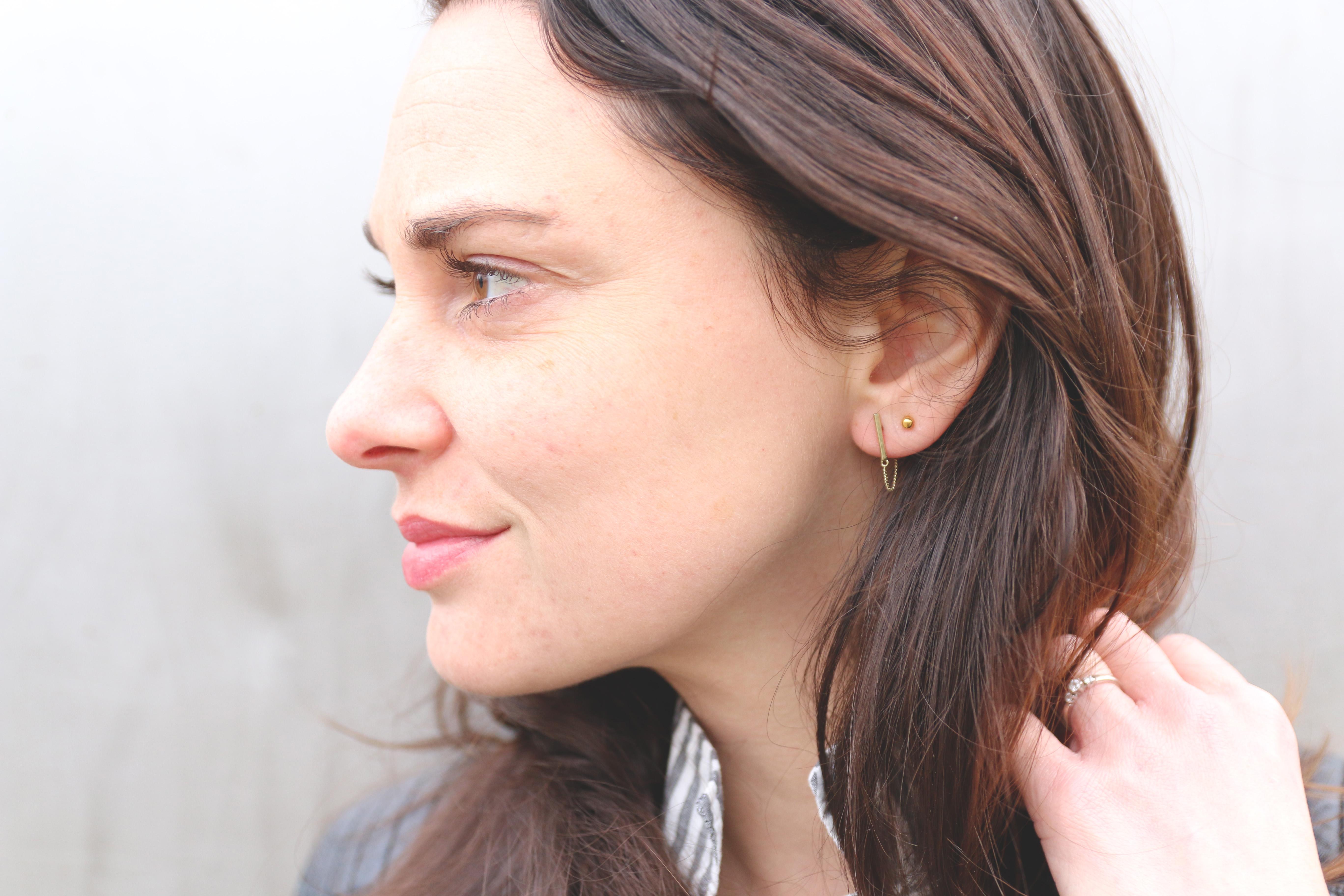 Zeer We ♡ Minimalistische oorbellen - Ik Vrouw van Jou &UD16