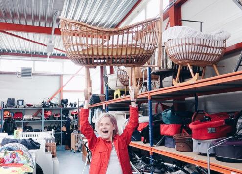 over tijd vintage wieg kringloopwinkel utrecht