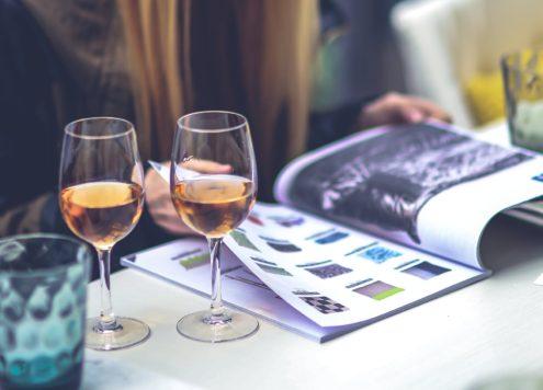 Twee glazen wijn per dag om de storm te stillen