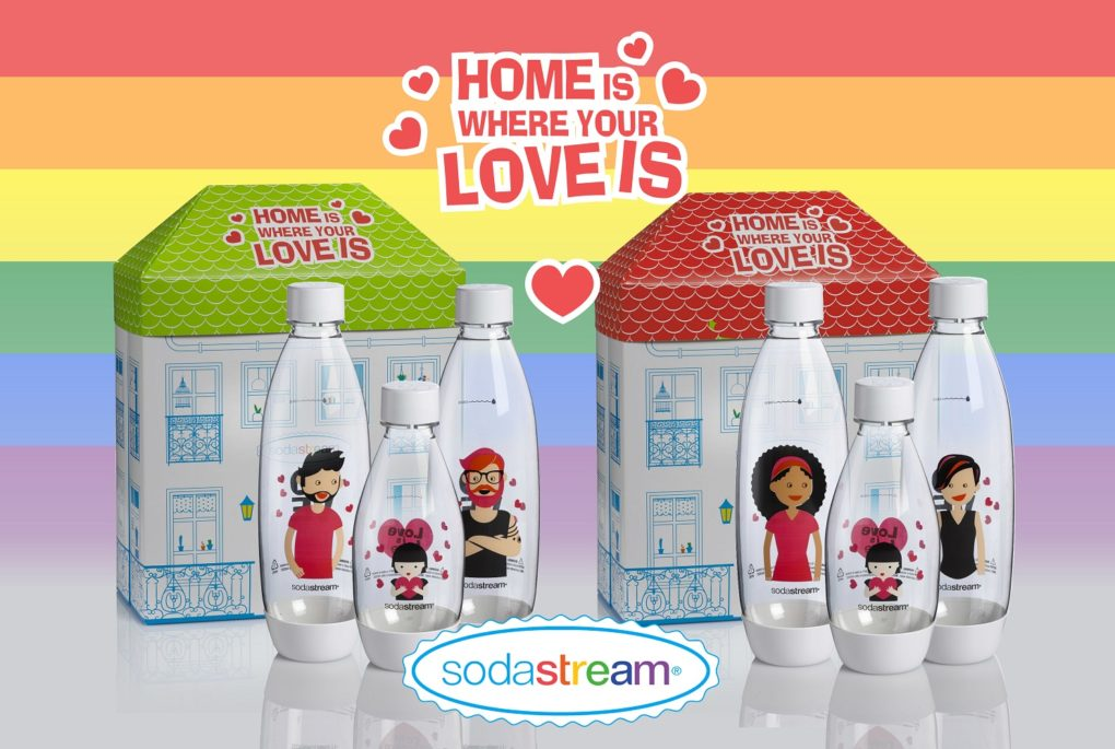 Love is Love limited edition flessenset sodastream