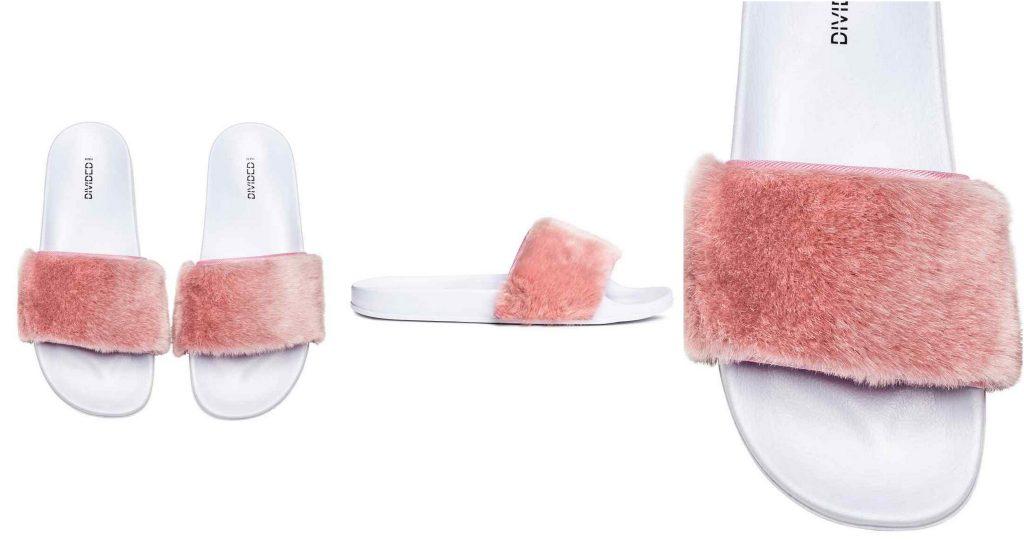 slippers met bont fluffy