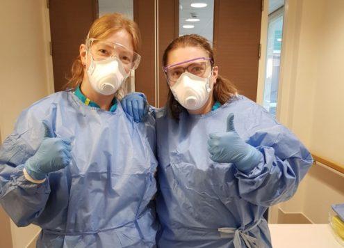 Verpleegkundige op de Corona afdeling