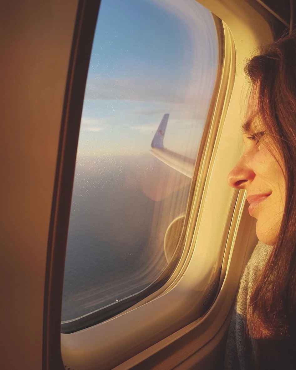 vliegtuig vliegen zonsondergang curaçao