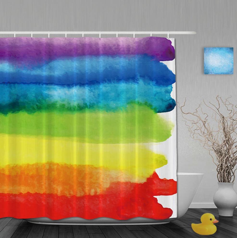 regenboog douche gordijn