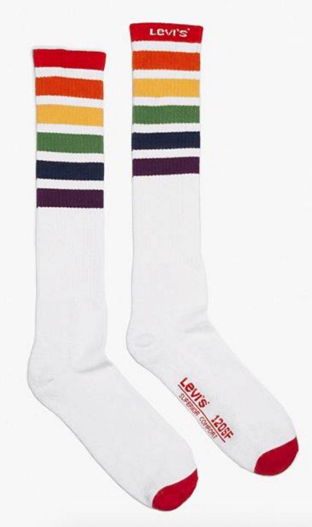 rainbow socks levi's