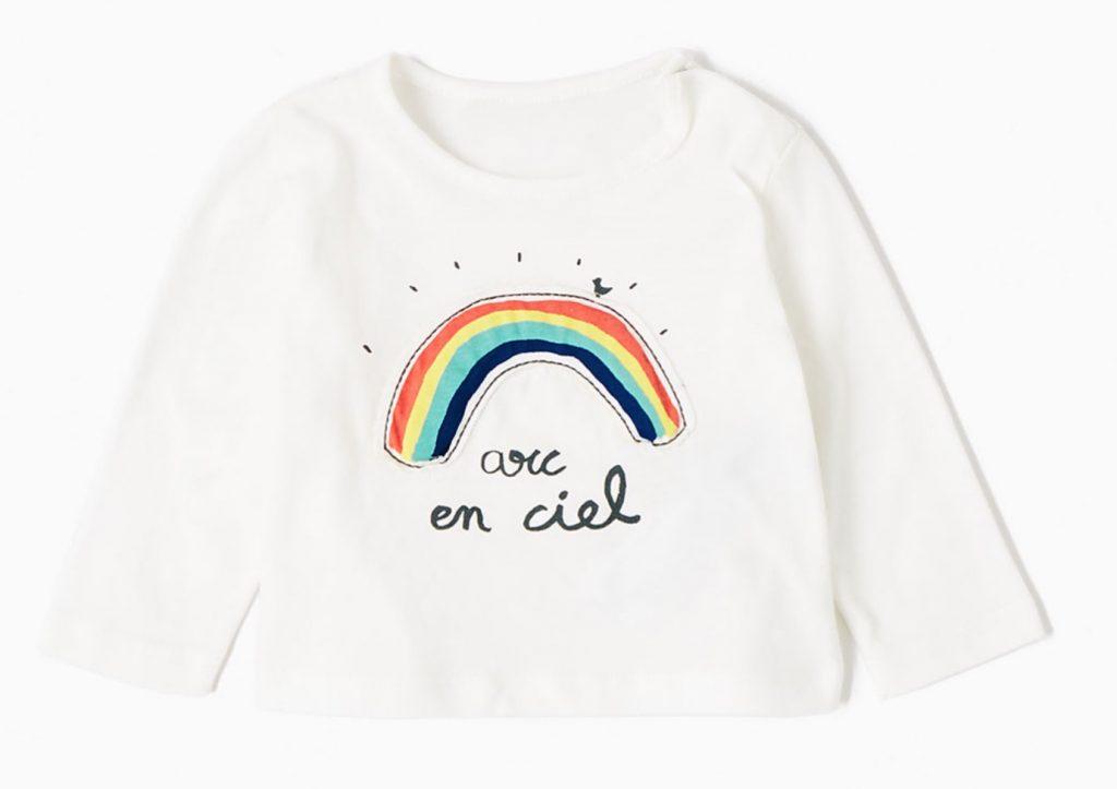 regenboog shirt baby