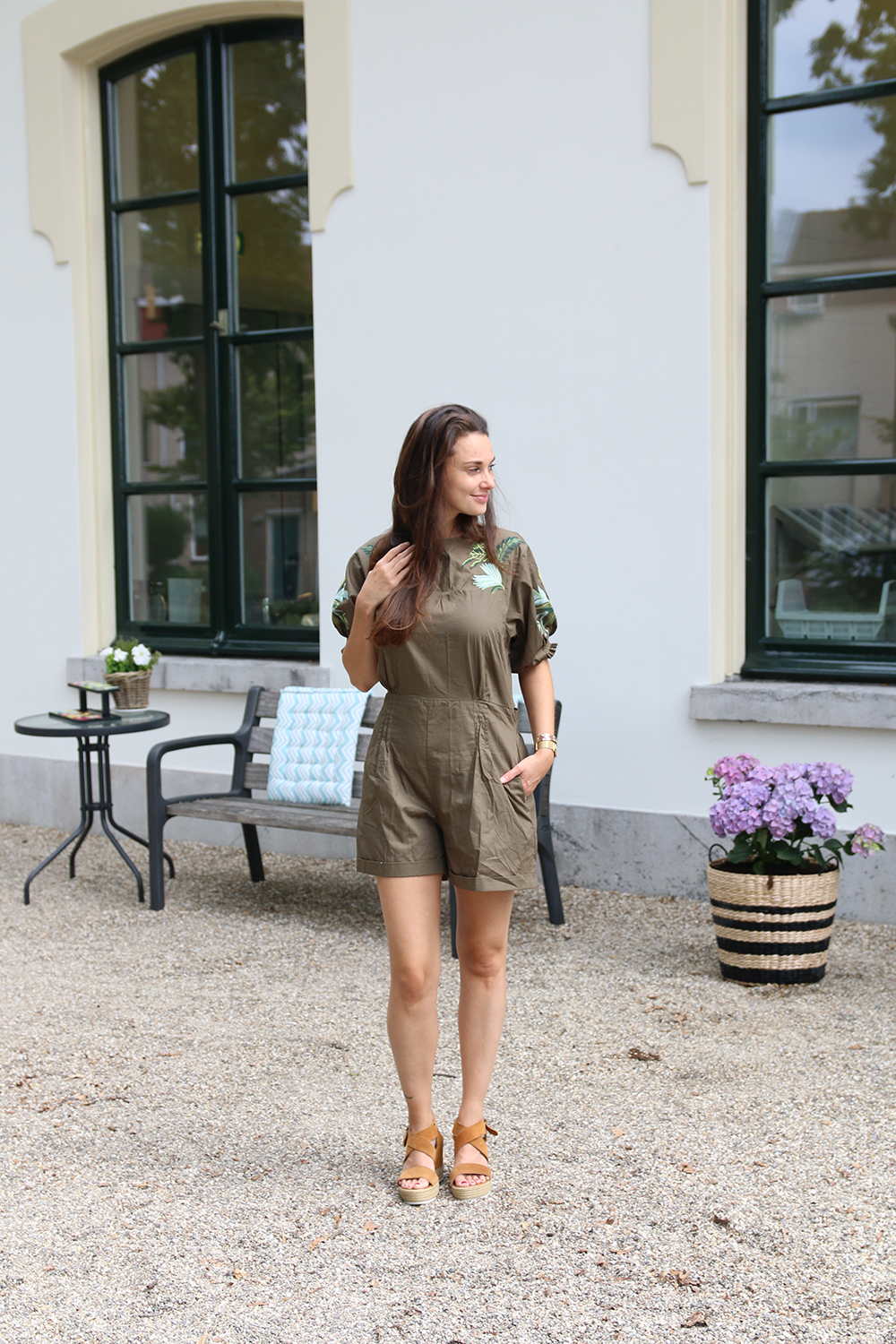 romwe play suit groen
